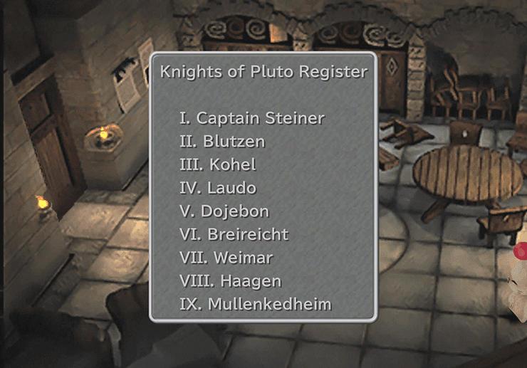 Alexandria Castle Knights Pluto Register